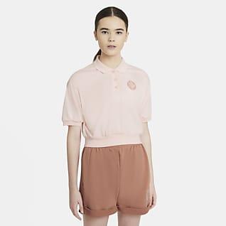 Nike Sportswear Femme Γυναικεία μπλούζα crop με γιακά