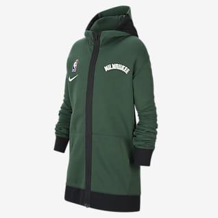 Milwaukee Bucks Showtime Nike Therma Flex NBA-hoodie voor kids