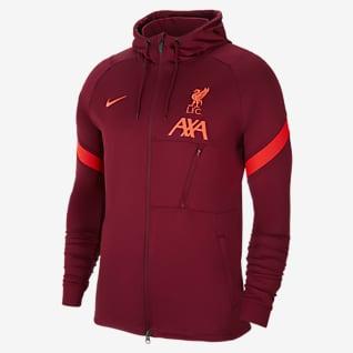 Liverpool FC Strike Chamarra de entrenamiento de fútbol de tejido Knit para hombre