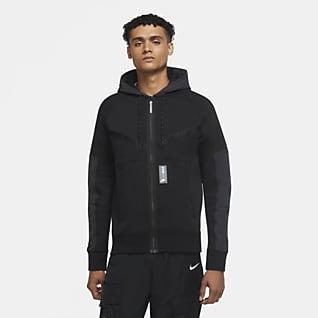 Nike Sportswear Air Max Hoodie de lã cardada com fecho completo para homem