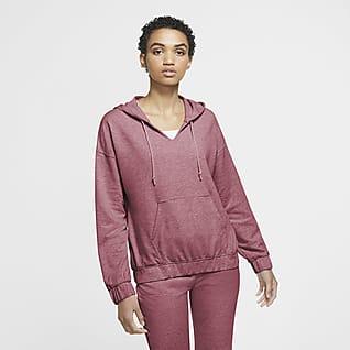 Nike Yoga เสื้อมีฮู้ดผู้หญิงแบบสวม