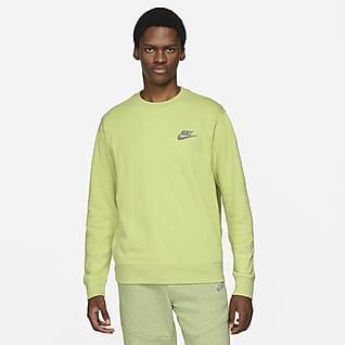 Nike Sportswear Sport Essentials+ Tröja i halvborstat material med rund hals för män