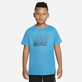 Nike Dri-FIT Trainings-Oberteil mit Grafik für ältere Kinder (Jungen)