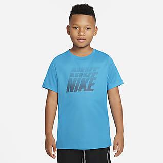 Nike Dri-FIT Camiseta de entrenamiento estampado para niño