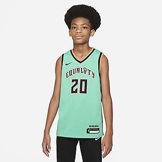 Sabrina Ionescu Liberty Rebel Edition Maillot Nike Dri-FIT WNBA Victory pour Enfant plus âgé