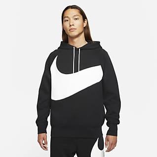 Nike Sportswear Swoosh Tech Fleece เสื้อมีฮู้ดผู้ชายแบบสวม