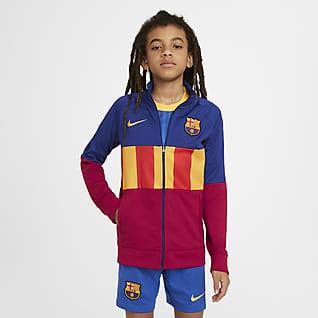 FC Barcelona Anthem Fotballtreningsjakke til store barn