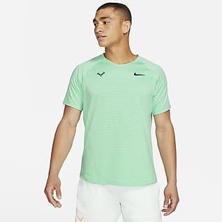NikeCourt AeroReact Rafa Slam Мужская теннисная футболка с коротким рукавом