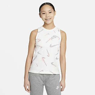Nike Sportswear Big Kids' (Girls') French Terry Printed Tank