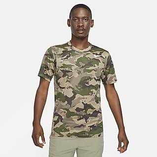 Nike Dri-FIT Camo-trænings-T-shirt til mænd
