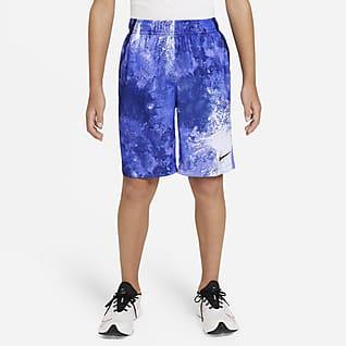 Nike Dri-FIT Shorts de entrenamiento Tie-Dye para niños talla grande