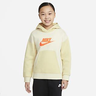 Nike Sportswear Pullover-hættetrøje til større børn (piger)