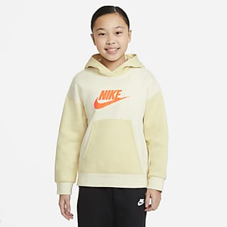Nike Sportswear Sudadera con capucha sin cierre para niña talla grande