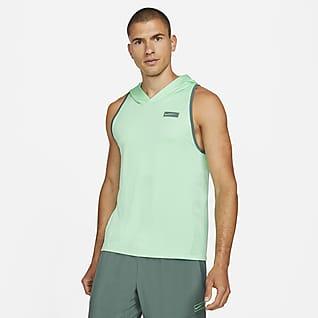 Nike Sport Clash Camiseta de tirantes de entrenamiento con capucha para hombre