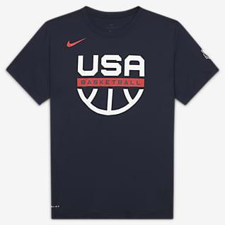 USAB Nike Dri-FIT Playera de práctica de básquetbol para hombre