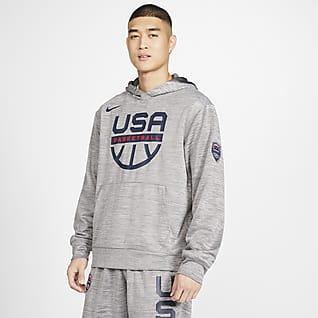 USA Nike Spotlight Kapüşonlu Erkek Basketbol Üstü