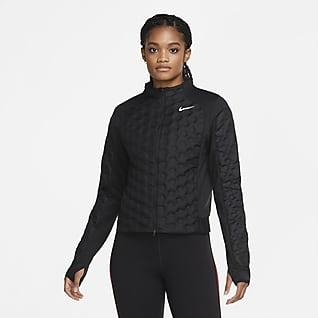 Nike Aeroloft Løpejakke til dame med hel glidelås