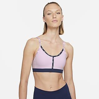 Nike Dri-FIT Indy Brassière de sport rembourrée à maintien léger avec bande logo pour Femme