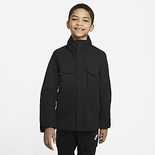 Nike Sportswear Chamarra militar M-65 para niño talla grande