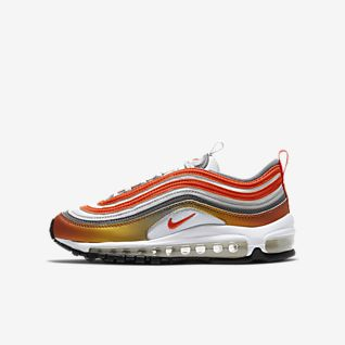 nike air max 97 pink white yellow green trainers