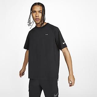 FFF Kortärmad stickad tröja för män