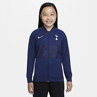 Tottenham Hotspur Chamarra de fútbol de cierre completo para niños talla grande