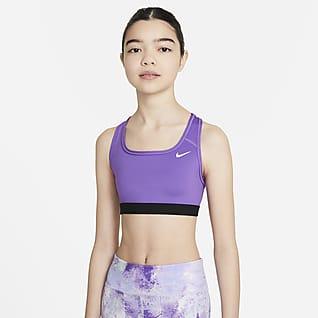 Nike Swoosh Big Kids' (Girls') Sports Bra