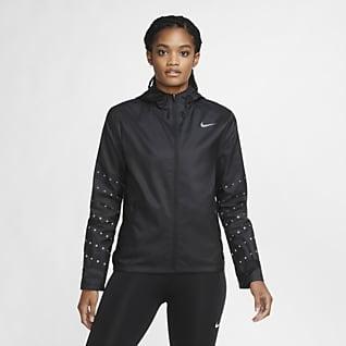 Nike Essential Flash Løpejakke med hette til dame