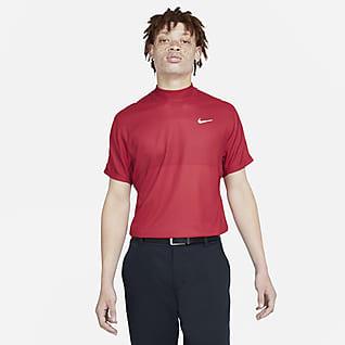 Nike Dri-FIT Tiger Woods Kortærmet golftrøje med høj hals til mænd