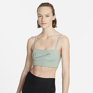 Nike Dri-FIT Indy Gepolsterter Sport-BH mit vielseitigen Trägern und leichtem Halt für Damen