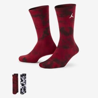 Jordan Calcetines largos teñidos para niños talla grande