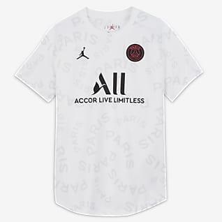 Παρί Σεν Ζερμέν Γυναικεία κοντομάνικη ποδοσφαιρική μπλούζα προθέρμανσης