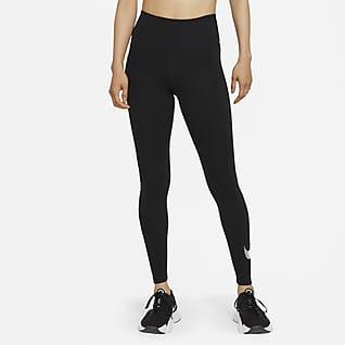 Nike Dri-FIT One Icon Clash เลกกิ้งเอวปานกลางผู้หญิงมีกราฟิก