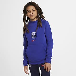 Chelsea FC Fleece Genç Çocuk Kapüşonlu Üstü
