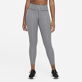 Nike Dri-FIT One Icon Clash Leggings de 7/8 de talle medio con estampado - Mujer