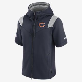 Nike Sideline Showout (NFL Chicago Bears) Men's Short-Sleeve Full-Zip Hoodie