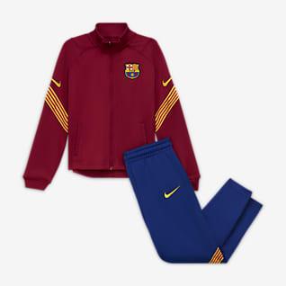 FC Barcelona Strike Stickad fotbollstracksuit för barn