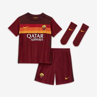 A.S. Roma 2020/21 Home Equipamento de futebol para bebé