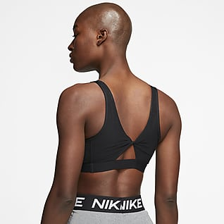 Nike Yoga Women's Light-Support Padded Twisted Keyhole Sports Bra