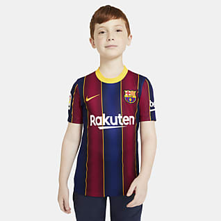 F.C. Barcelona 2020/21 Stadium Home Older Kids' Football Shirt