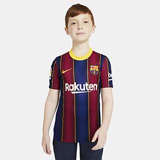 FC Barcelona 2020/21 Stadium (hemmaställ) Fotbollströja för ungdom