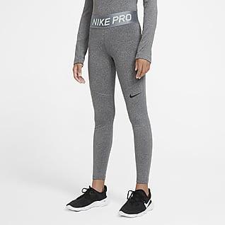 Nike Pro Warm Mallas para niñas talla grande