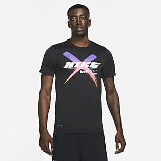 Nike Dri-FIT Mintás férfi edzőpóló