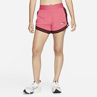 Nike Dri-FIT Tempo Luxe Icon Clash กางเกงวิ่งขาสั้น 4 นิ้วผู้หญิง