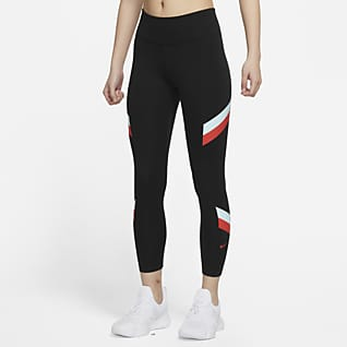 Nike One Color-Block Stripe 7/8 女子中腰紧身裤