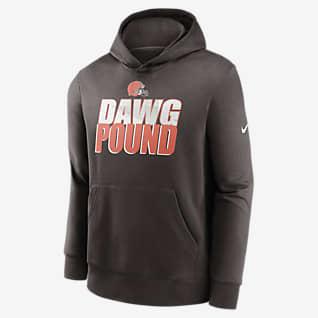 Nike Club Fleece (NFL Cleveland Browns) Sudadera con gorro para niño talla grande