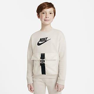 Nike Sportswear Kerek nyakkivágású pulóver nagyobb gyerekeknek (fiúk)