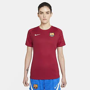 FC Barcelona Strike Dámské fotbalové tričko Nike Dri-FIT skrátkým rukávem