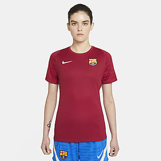 FC Barcelona Strike Camiseta de fútbol de manga corta Nike Dri-FIT para mujer