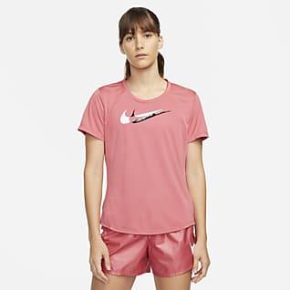 Nike Dri-FIT Swoosh Run Kortermet løpeoverdel til dame